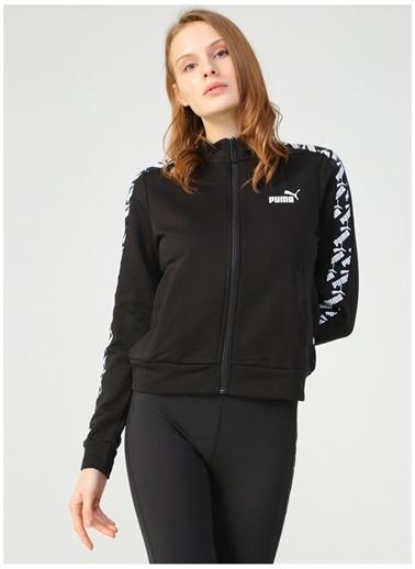 Puma Puma 58121901 Amplified Track Jacket Siyah Kadın Zip Ceket Siyah
